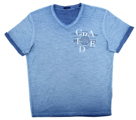 T-Shirt, uni blau