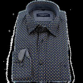 Sporthemd, blau-gelb-weiß gepunktet