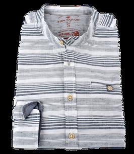 Sporthemd, grau-weiß gestreift