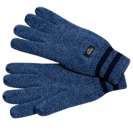 Strickhandschuhe, jeansblau meliert