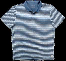 Polo, blau-grau gestreift