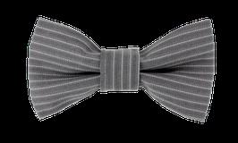 Schmale Fliege, grau gestreift