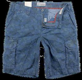 Bermuda-Short, blau, Camouflage-Muster