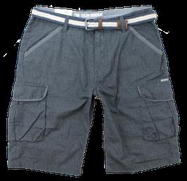 Cargo-Short, grau-blau