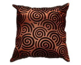 タイシルク クッションカバー  スクリュー デザイン ブラウン 【茶色】  【Screw Design , Brown / Thaisilk Cushion Cover】 45×45cm 対応