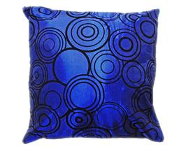 タイシルク クッションカバー  リングデザイン ブルー 【青】  【Ring Design , Blue / Thaisilk Cushion Cover】 45×45cm 対応