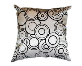 タイシルク クッションカバー  リングデザイン シルバー 【銀】 【Ring Design , Silver / Thaisilk Cushion Cover】 45×45cm 対応