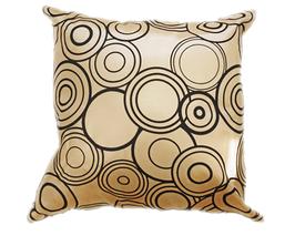 タイシルク クッションカバー  リングデザイン ゴールド 【金】 【Ring Design , Gold / Thaisilk Cushion Cover】 45×45cm 対応