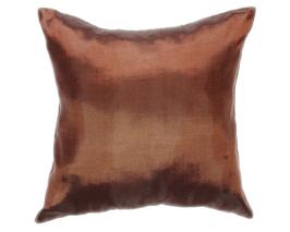 タイシルク クッションカバー  【無地】 シンプル デザイン  ブラウン 【茶色】   【Simple Design , Brown / Thaisilk Cushion Cover】45×45cm 対応