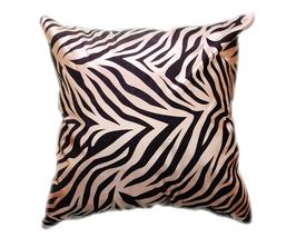 タイシルク クッションカバー  ゼブラ デザイン シャンパンゴールド 【金】  【Zebra Design , Champagne Gold / Thaisilk Cushion Cover】 45×45cm 対応