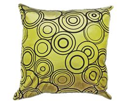 タイシルク クッションカバー  リングデザイン グリーン 【緑】  【Ring Design , Green / Thaisilk Cushion Cover】 45×45cm 対応