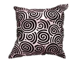 タイシルク クッションカバー  スクリュー デザイン シルバー 【銀】  【Screw Design , Silver / Thaisilk Cushion Cover】 45×45cm 対応