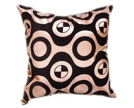 タイシルク クッションカバー  チェッカーデザイン シャンパンゴールド 【金】 【Checker Design , Champagne Gold / Thaisilk Cushion Cover】 45×45cm 対応