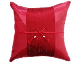 タイランド クッションカバー  チェンマイ デザイン レッド 【赤】  【Chiang Mai Design , Red / Thailand Cushion Cover】 40×40cm