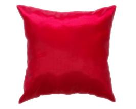 タイシルク クッションカバー  【無地】 シンプル デザイン  レッド 【赤】   【Simple Design , Red / Thaisilk Cushion Cover】45×45cm 対応