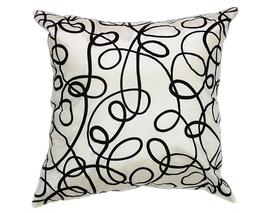 タイシルク クッションカバー  インフィニティ デザイン  ホワイト 【白】   【Infinity Design , White / Thaisilk Cushion Cover】  45×45cm 対応