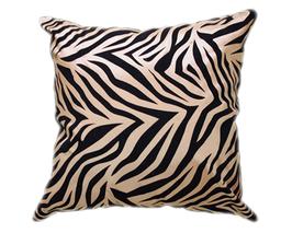 タイシルク クッションカバー  ゼブラ デザイン ゴールド 【金】  【Zebra Design , Gold / Thaisilk Cushion Cover】 45×45cm 対応