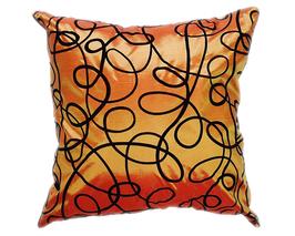 タイシルク クッションカバー  インフィニティ デザイン  オレンジ 【橙】   【Infinity Design , Orange / Thaisilk Cushion Cover】  45×45cm 対応