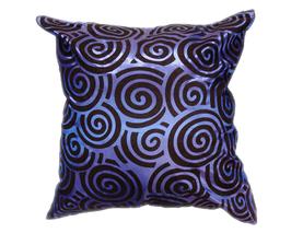 タイシルク クッションカバー  スクリューデザイン ブルー 【青】  【Screw Design , Blue / Thaisilk Cushion Cover】 45×45cm 対応