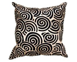 タイシルク クッションカバー  スクリュー デザイン ゴールド 【金】  【Screw Design , Gold / Thaisilk Cushion Cover】 45×45cm 対応