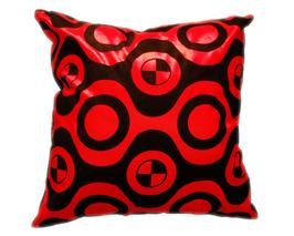 タイシルク クッションカバー  チェッカーデザイン レッド 【赤】  【Checker Design , Red / Thaisilk Cushion Cover】 45×45cm 対応