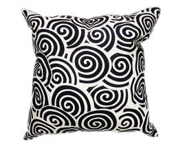 タイシルク クッションカバー  スクリュー デザイン パールホワイト 【白】  【Screw Design , Pearl White / Thaisilk Cushion Cover】 45×45cm 対応