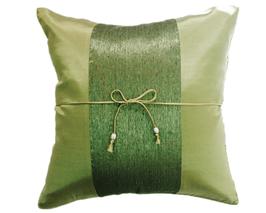タイランド クッションカバー  チェンマイ デザイン グリーン 【緑】  【Chiang Mai Design , Green / Thailand Cushion Cover】 40×40cm