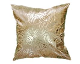 タイシルク クッションカバー  ゴールドリング デザイン ゴールド 【金】  【Gold Ring Design , Gold / Thaisilk Cushion Cover】 45×45cm 対応