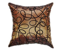 タイシルク クッションカバー  インフィニティ デザイン  ブラウン 【茶色】   【Infinity Design , Brown / Thaisilk Cushion Cover】  45×45cm 対応