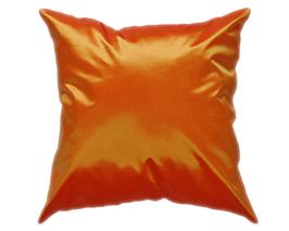 タイシルク クッションカバー  【無地】 シンプル デザイン  オレンジ 【橙】   【Simple Design , Orange / Thaisilk Cushion Cover】45×45cm 対応