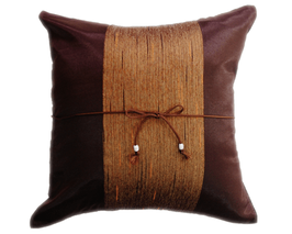 タイランド クッションカバー チェンマイ デザイン  ブラウン 【茶色】  【Chiang Mai Design , Brown / Thailand Cushion Cover】 40×40cm
