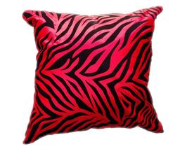 タイシルク クッションカバー  ゼブラ デザイン レッド 【赤】  【Zebra Design , Red / Thaisilk Cushion Cover】 45×45cm 対応