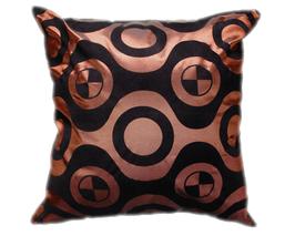 タイシルク クッションカバー  チェッカーデザイン ブラウン 【茶色】 【Checker Design , Brown / Thaisilk Cushion Cover】 45×45cm 対応