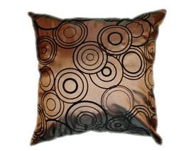 タイシルク クッションカバー  リングデザイン ブラウン 【茶色】 【Ring Design , Brown / Thaisilk Cushion Cover】 45×45cm 対応