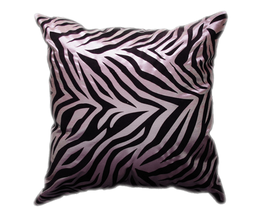 タイシルク クッションカバー  ゼブラ デザイン シルバー 【銀】  【Zebra Design , Silver / Thaisilk Cushion Cover】 45×45cm 対応