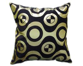 タイシルク クッションカバー  チェッカーデザイン グリーン 【緑】  【Checker Design , Green / Thaisilk Cushion Cover】 45×45cm 対応