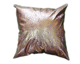 タイシルク クッションカバー  ゴールドリング デザイン シルバー 【銀】  【Gold Ring Design , Silver / Thaisilk Cushion Cover】 45×45cm 対応