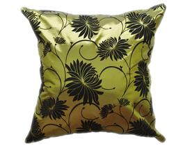 タイシルク クッションカバー  ロータス デザイン  グリーン 【緑】   【Lotus Design , Green / Thaisilk Cushion Cover】  45×45cm 対応