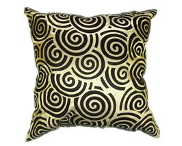 タイシルク クッションカバー  スクリュー デザイン グリーン 【緑】  【Screw Design , Green / Thaisilk Cushion Cover】 45×45cm 対応