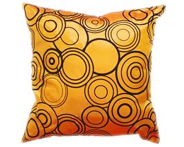 タイシルク クッションカバー  リングデザイン オレンジ 【橙】  【Ring Design , Orange / Thaisilk Cushion Cover】 45×45cm 対応