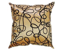 タイシルク クッションカバー  インフィニティ デザイン  ゴールド 【金】   【Infinity Design , Gold / Thaisilk Cushion Cover】  45×45cm 対応