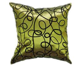 タイシルク クッションカバー  インフィニティ デザイン  グリーン 【緑】   【Infinity Design , Green / Thaisilk Cushion Cover】  45×45cm 対応