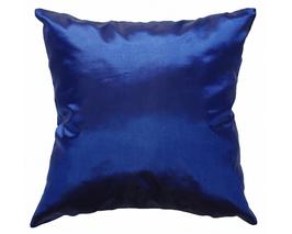 タイシルク クッションカバー  【無地】 シンプル デザイン  ブルー 【青】   【Simple Design , Blue / Thaisilk Cushion Cover】45×45cm 対応