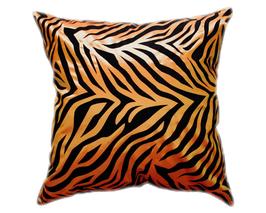 タイシルク クッションカバー  ゼブラ デザイン オレンジ 【橙】  【Zebra Design , Orange / Thaisilk Cushion Cover】 45×45cm 対応