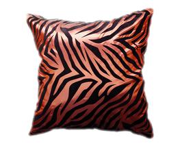 タイシルク クッションカバー  ゼブラ デザイン ブラウン 【茶色】  【Zebra Design , Brown / Thaisilk Cushion Cover】 45×45cm 対応