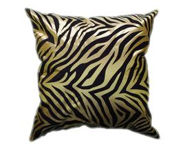 タイシルク クッションカバー  ゼブラ デザイン グリーン 【緑】  【Zebra Design , Green / Thaisilk Cushion Cover】 45×45cm 対応