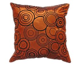 タイシルク クッションカバー  リングデザイン ブロンズ 【銅】 【Ring Design , Bronze / Thaisilk Cushion Cover】 45×45cm 対応
