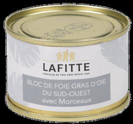 Foie Gras d'Oie du Sud-Ouest nature Lafitte en bloc 65gr