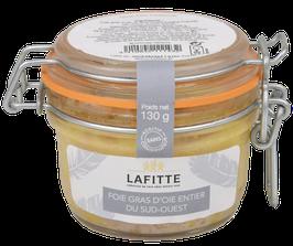 Foie Gras d'Oie entier du Sud-Ouest nature Lafitte en bocal 130gr