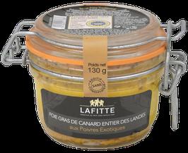 Foie Gras de Canard entier des Landes aux poivres exotiques 130gr